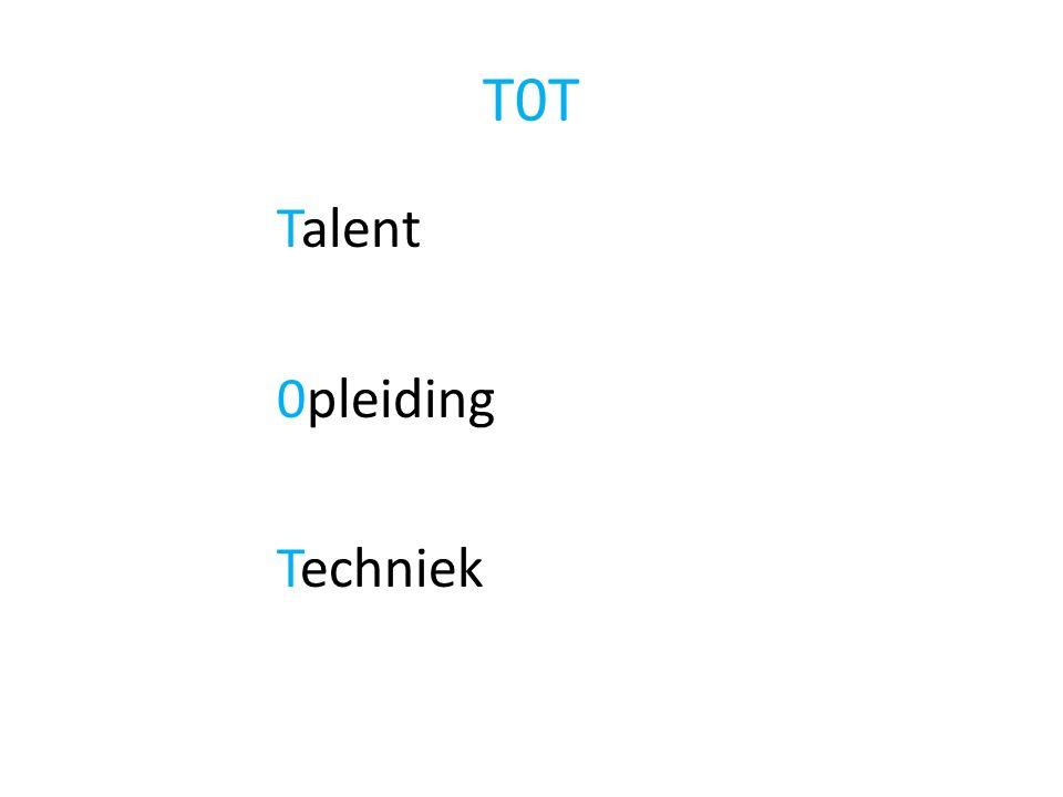 T0T Talent 0pleiding Techniek
