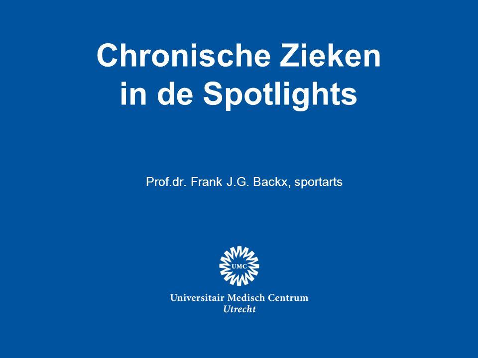 Chronische Zieken in de Spotlights, Prof.dr. Frank J.G. Backx, sportarts