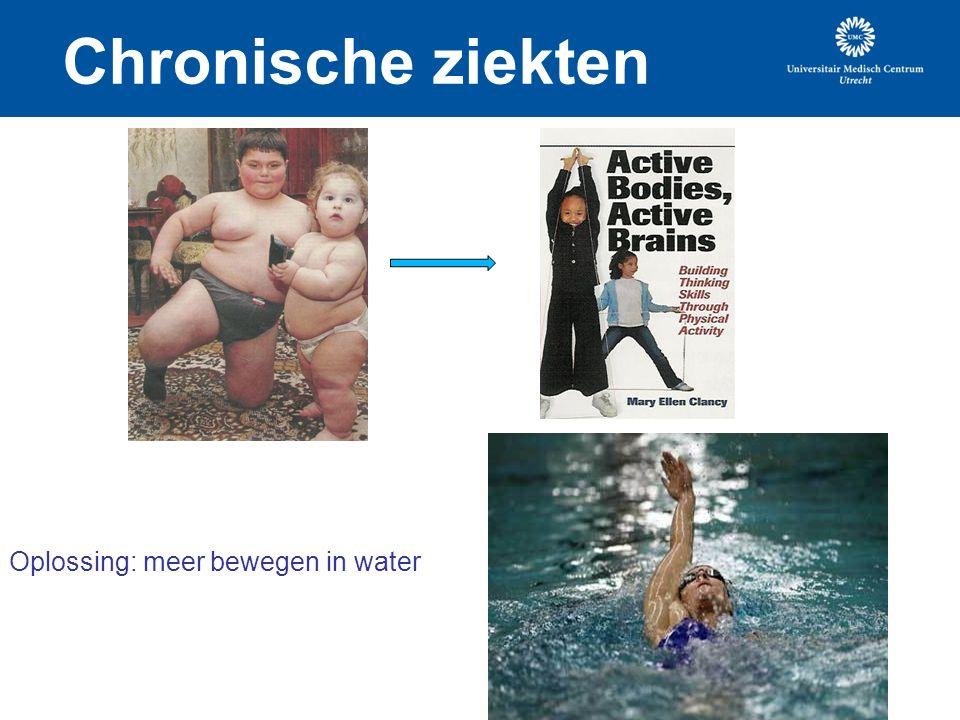 Chronische ziekten Oplossing: meer bewegen in water