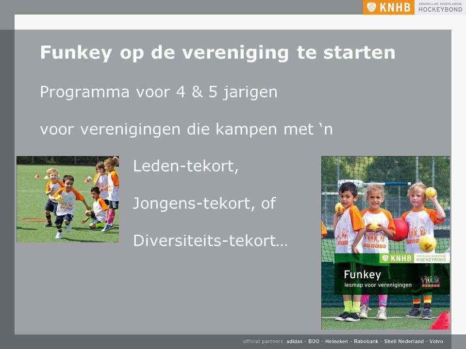 Funkey op de vereniging te starten Programma voor 4 & 5 jarigen voor verenigingen die kampen met 'n Leden-tekort, Jongens-tekort, of Diversiteits-tekort…