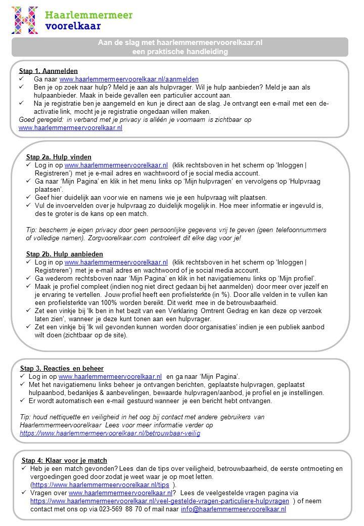 Aan de slag met haarlemmermeervoorelkaar.nl een praktische handleiding Stap 1.