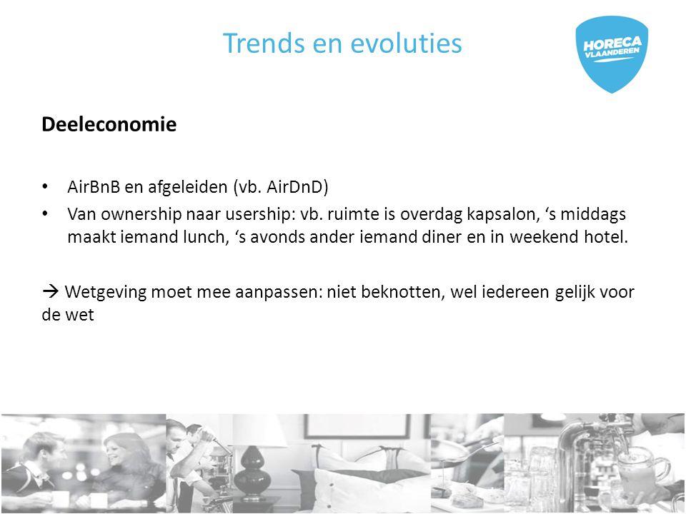 Trends en evoluties Deeleconomie AirBnB en afgeleiden (vb.