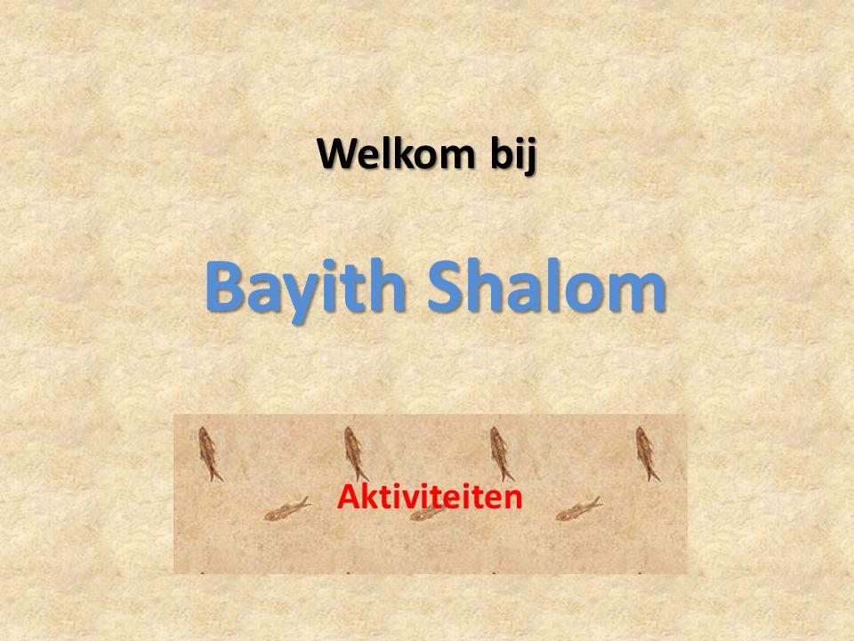 Welkom bij Bayith Shalom Aktiviteiten