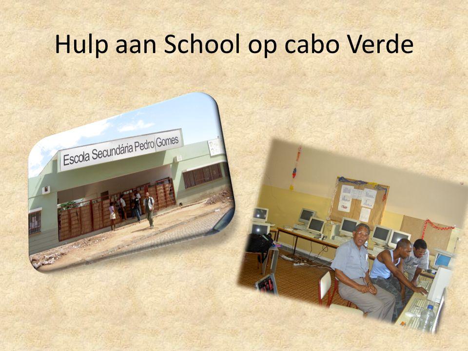 Hulp aan School op cabo Verde