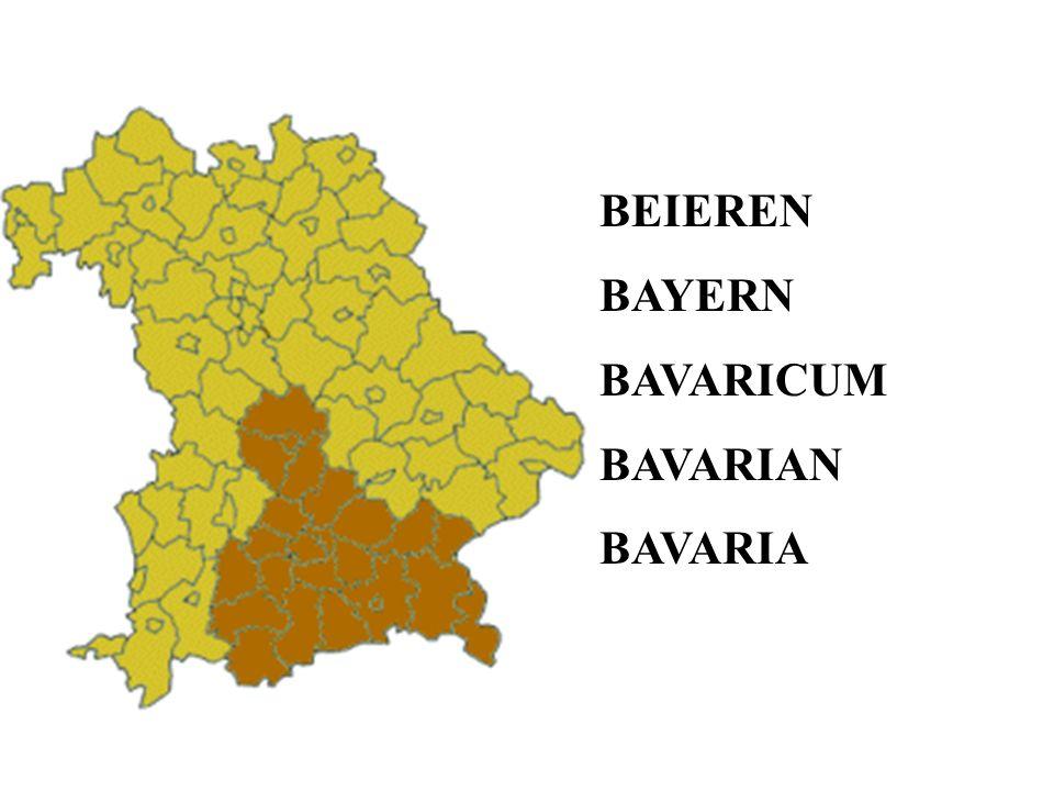 BEIEREN BAYERN BAVARICUM BAVARIAN BAVARIA