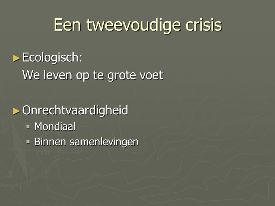 Mogelijkheden van DO voor SW … the concept of sustainability is comprised of a two-fold possibility for SW … Externally, SW has a legalised possibility to demand that social aspects are taken seriously in the overall development of communities.