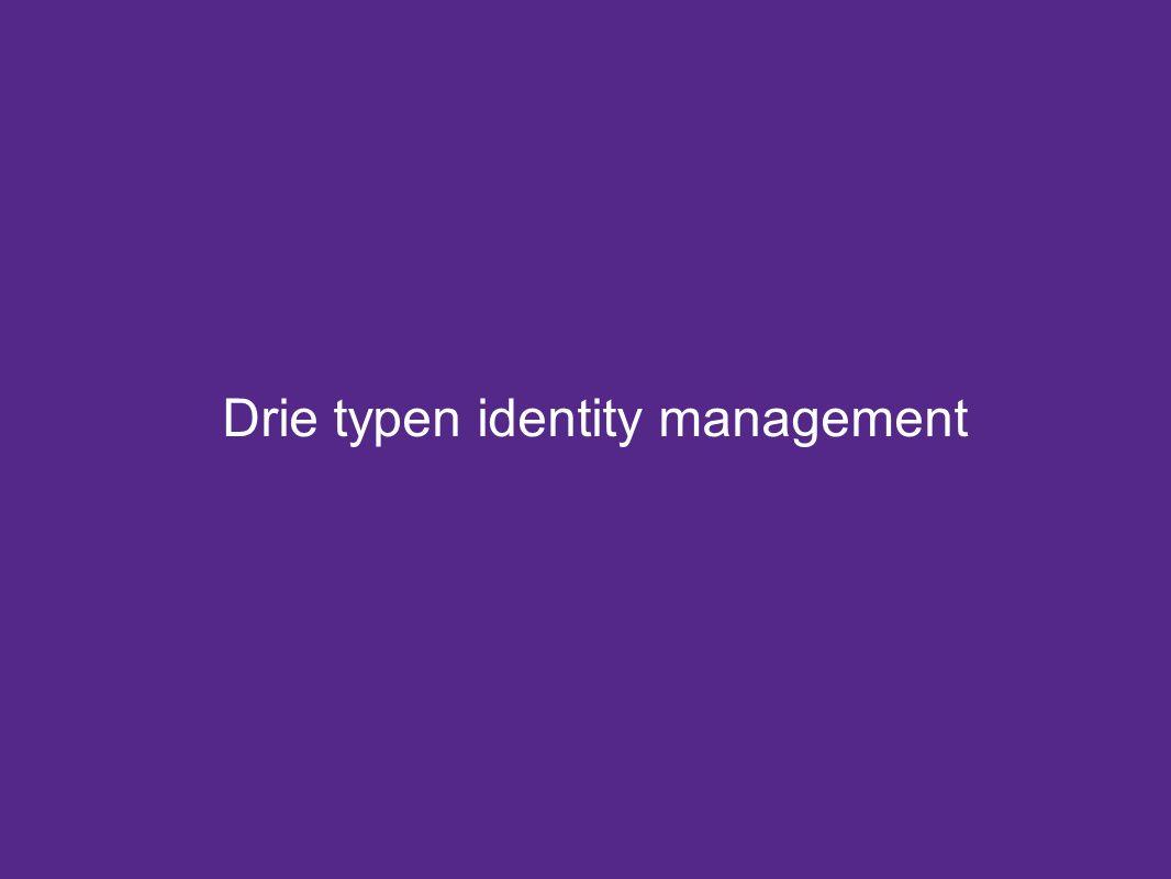 Drie typen identity management