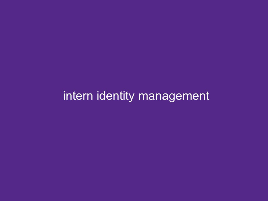 intern identity management