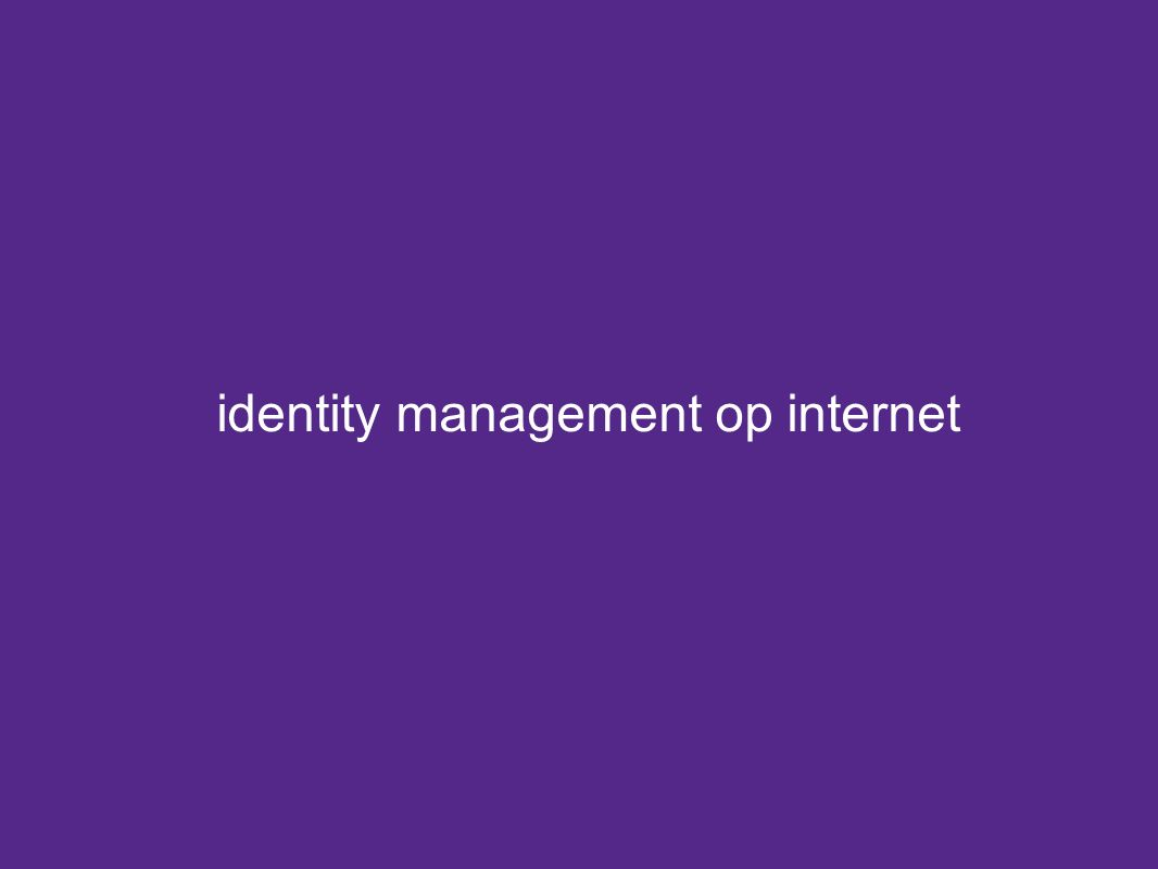identity management op internet