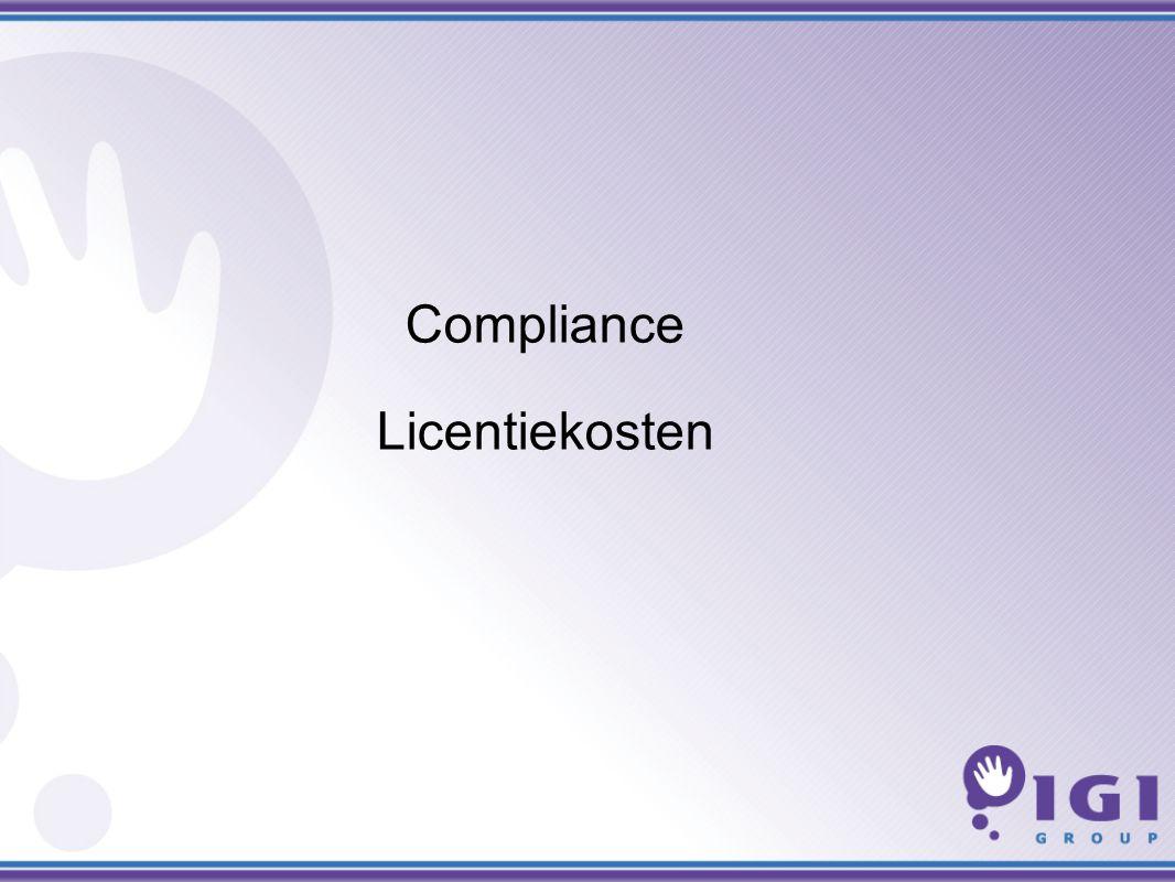 Compliance Licentiekosten