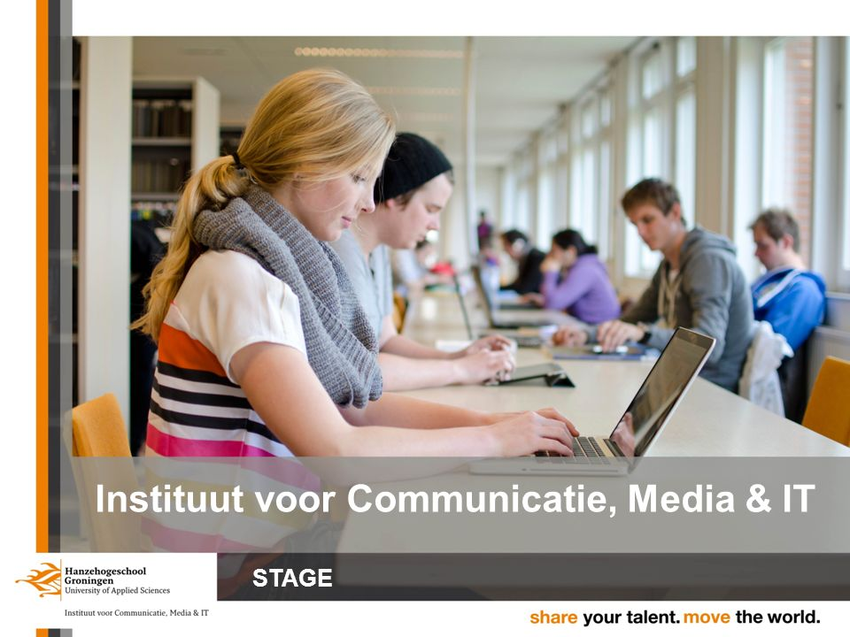 Instituut voor Communicatie, Media & IT STAGE