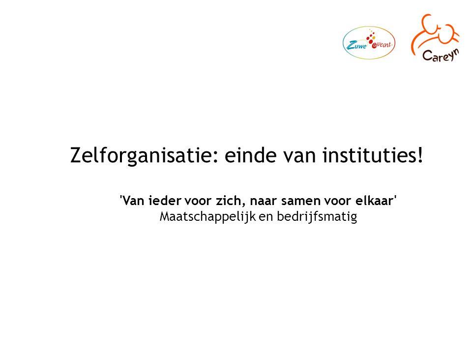 Zelforganisatie: einde van instituties.