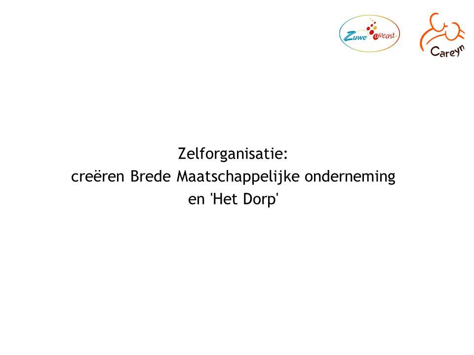 Zelforganisatie: creëren Brede Maatschappelijke onderneming en Het Dorp