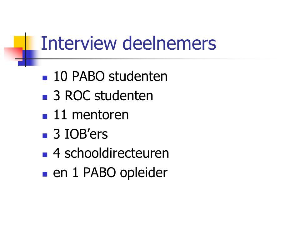 WP 2.Onderzoeksvragen 1. Wat is de opleidingskwaliteit bij de OS.