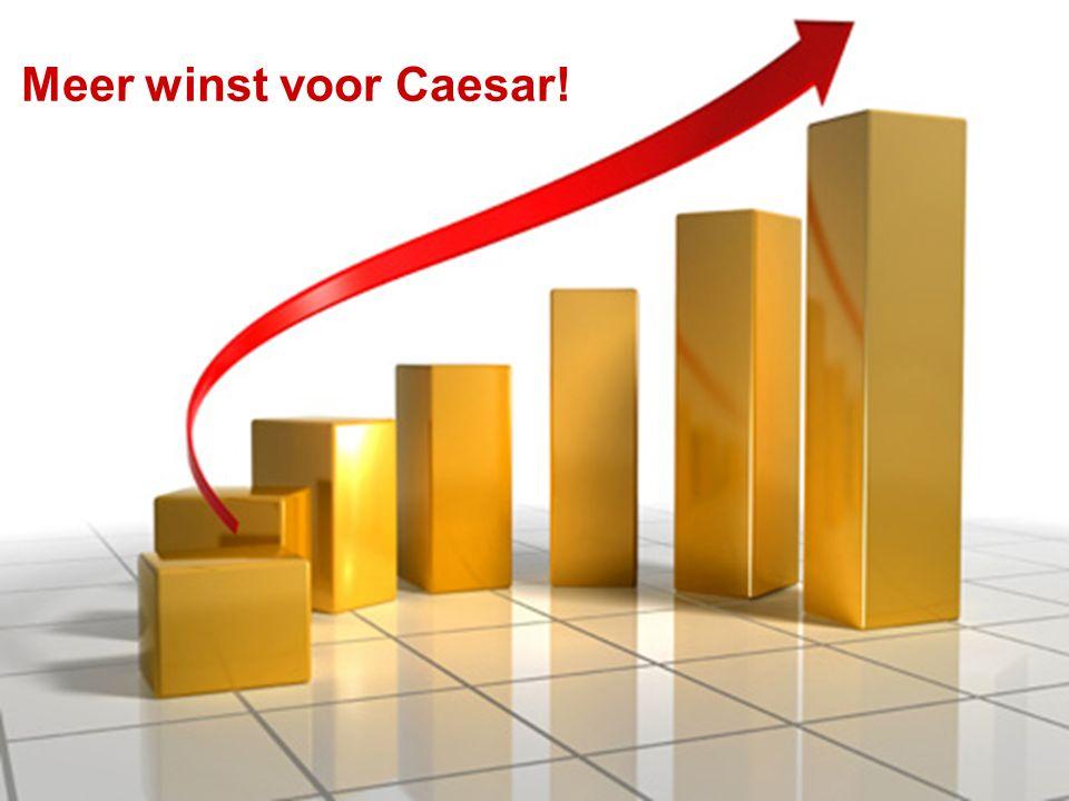 Meer winst voor Caesar!