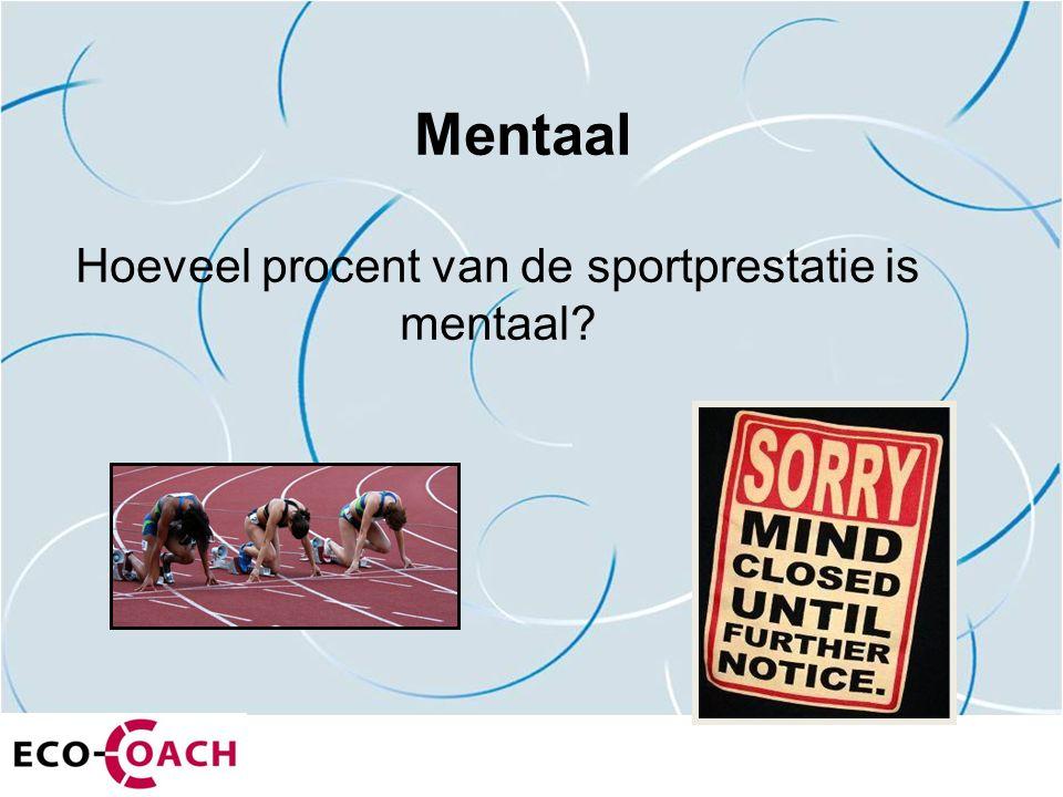 Mentaal Hoeveel procent van de sportprestatie is mentaal