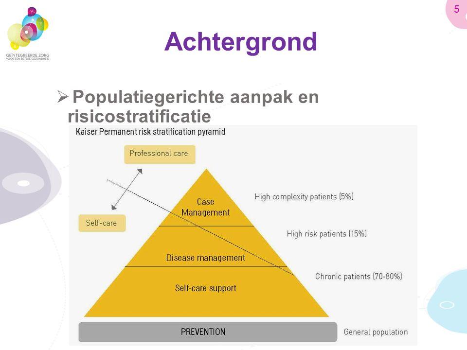 Achtergrond  Populatiegerichte aanpak en risicostratificatie 5