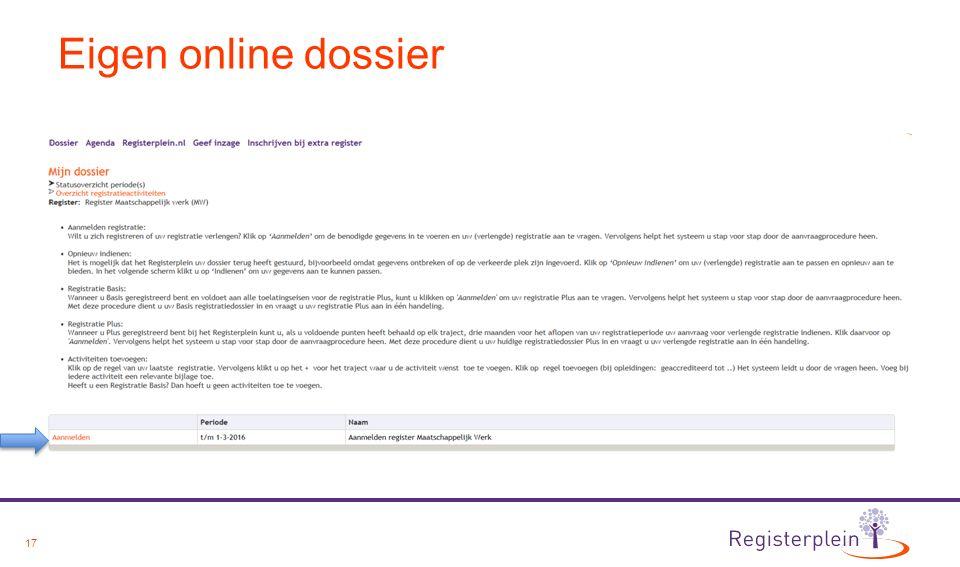 17 Eigen online dossier