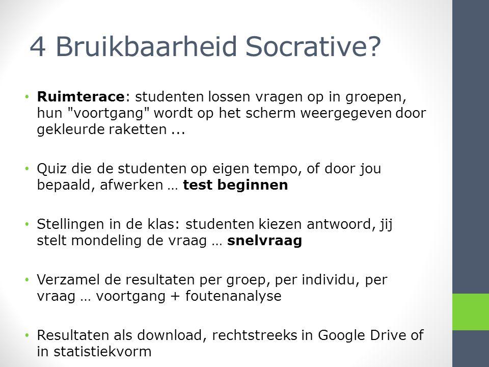 4 Bruikbaarheid Socrative.