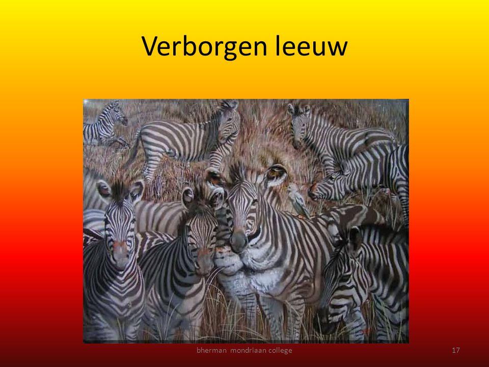 bherman mondriaan college17 Verborgen leeuw