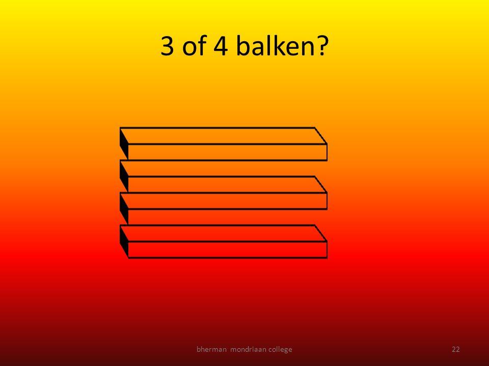 bherman mondriaan college22 3 of 4 balken?