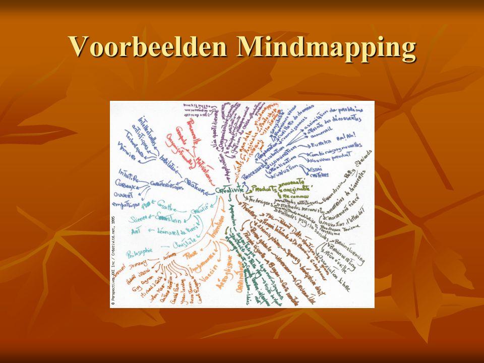 Voorbeelden Mindmapping