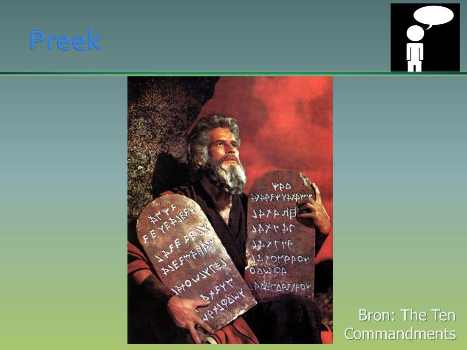 Bron: The Ten Commandments