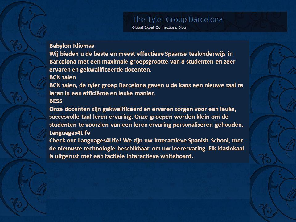 Babylon Idiomas Wij bieden u de beste en meest effectieve Spaanse taalonderwijs in Barcelona met een maximale groepsgrootte van 8 studenten en zeer ervaren en gekwalificeerde docenten.
