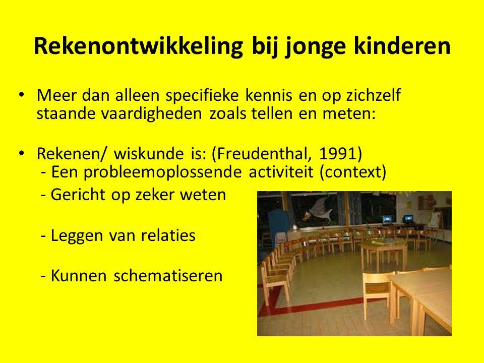 Rekenontwikkeling bij jonge kinderen Meer dan alleen specifieke kennis en op zichzelf staande vaardigheden zoals tellen en meten: Rekenen/ wiskunde is