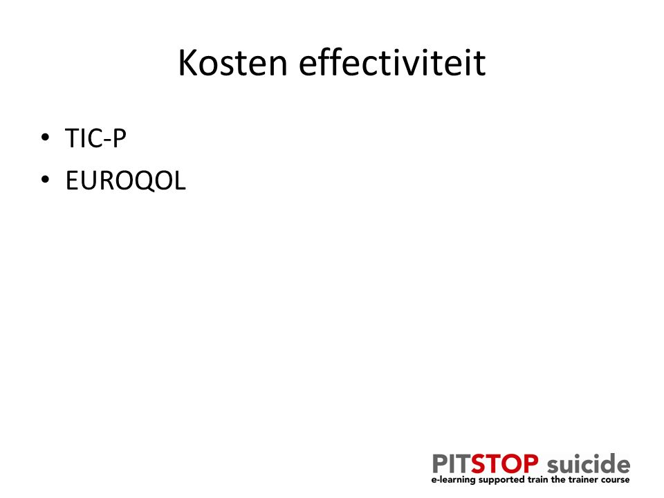 Kosten effectiviteit TIC-P EUROQOL