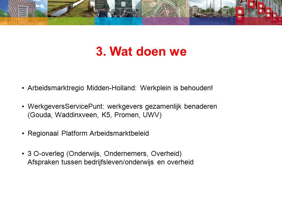 3. Wat doen we Arbeidsmarktregio Midden-Holland: Werkplein is behouden.