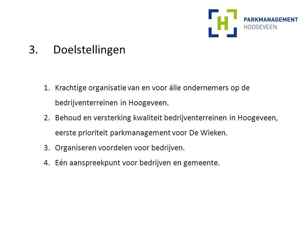 4.Eerste ideeën speerpunten (1) Organiseren 'basispakket' voor álle bedrijven op De Wieken met als doel om de kwaliteit van het bedrijventerrein op peil te houden: 1.