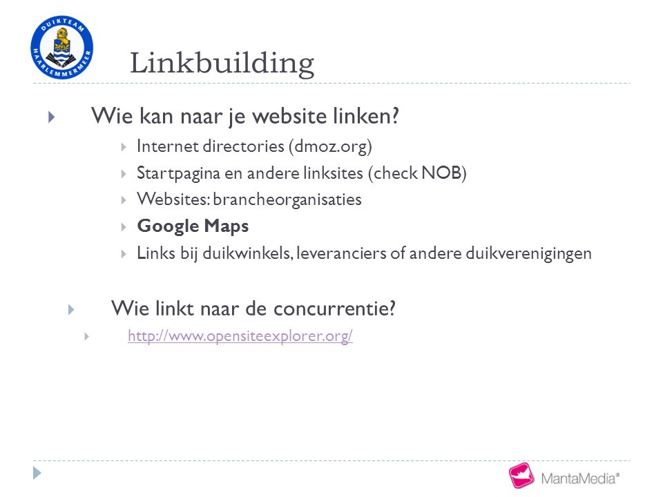 Linkbuilding  Wie kan naar je website linken.