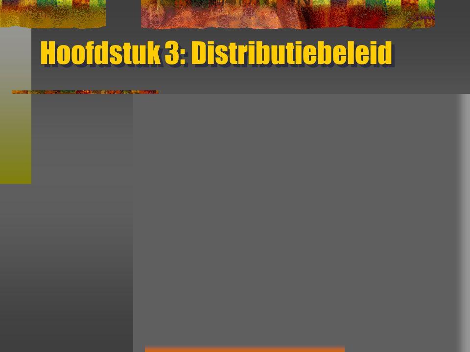 Hoofdstuk 3: Distributiebeleid