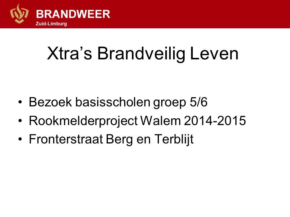 Xtra's Brandveilig Leven Bezoek basisscholen groep 5/6 Rookmelderproject Walem 2014-2015 Fronterstraat Berg en Terblijt