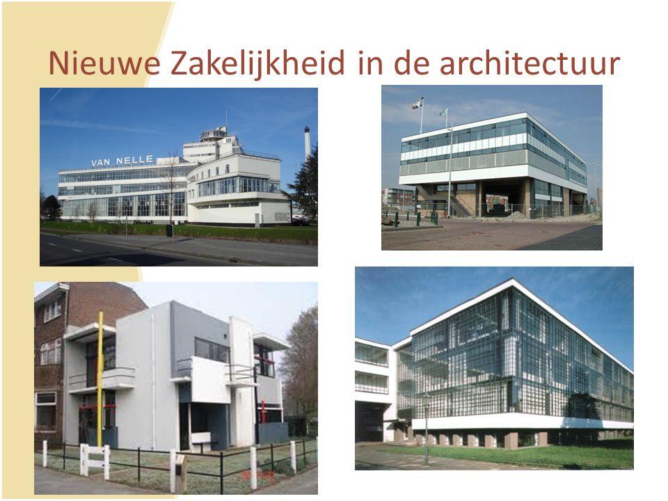Nieuwe Zakelijkheid in de architectuur
