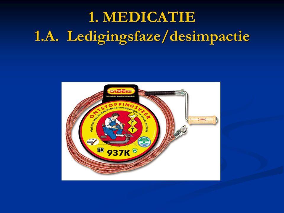 1. MEDICATIE 1.A. Ledigingsfaze/desimpactie
