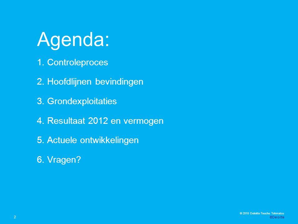 © 2012 Deloitte The Netherlands Kernpunten Regeerakkoord VVD – PVDA voor het lokaal en midden bestuur (1) 23 Het kabinet streeft naar gemeenten met een minimale omvang van 100.000 inwoners.