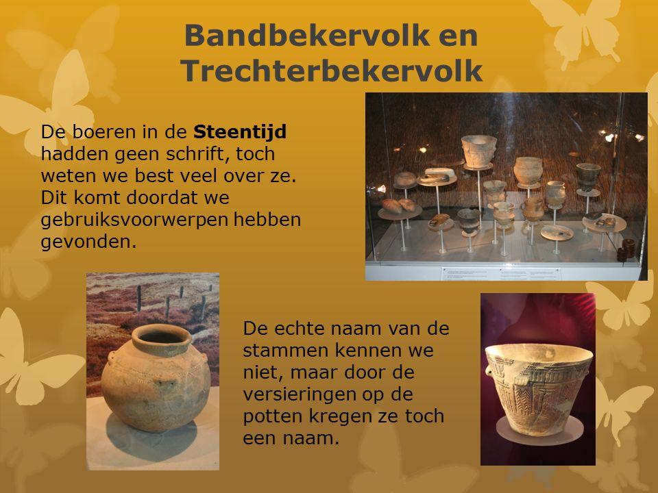 Hunebedden Het Trechterbekervolk in Drenthe maakte graven van enorme zwerfkeien.