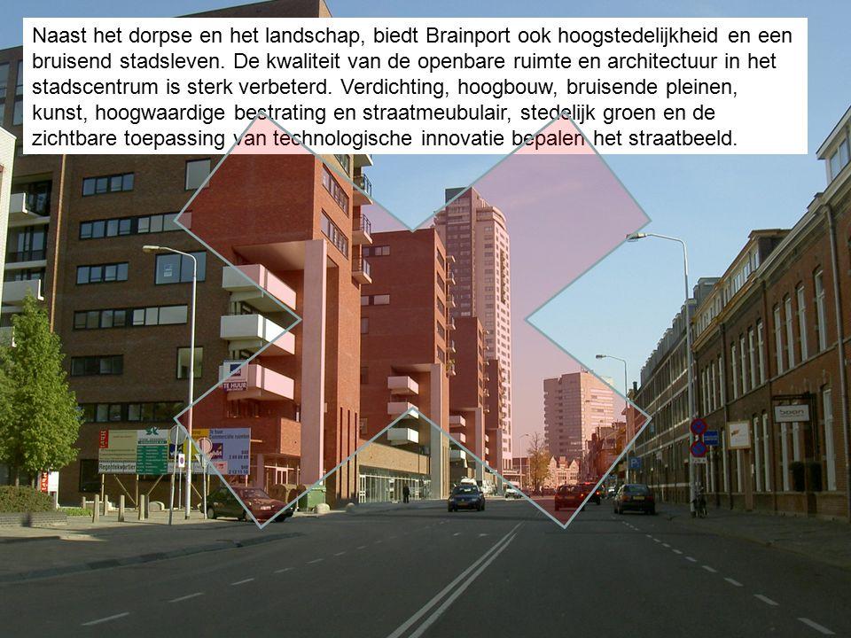 Naast het dorpse en het landschap, biedt Brainport ook hoogstedelijkheid en een bruisend stadsleven.