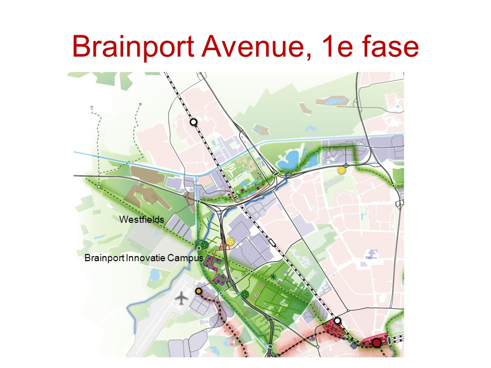 Brainport Avenue, 1e fase Brainport Innovatie Campus Westfields