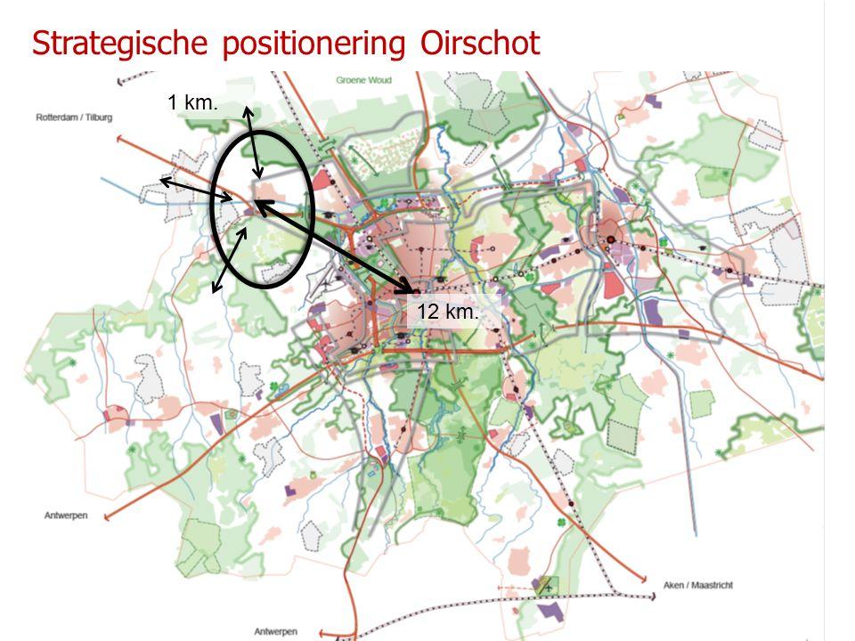 12 km. 1 km. Strategische positionering Oirschot