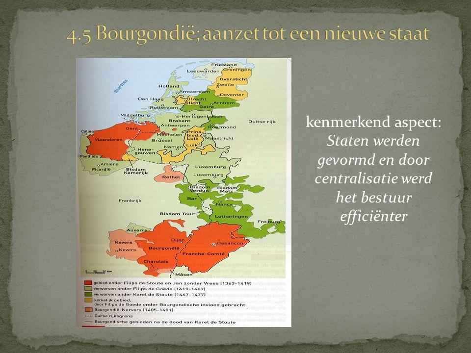 kenmerkend aspect: Staten werden gevormd en door centralisatie werd het bestuur efficiënter
