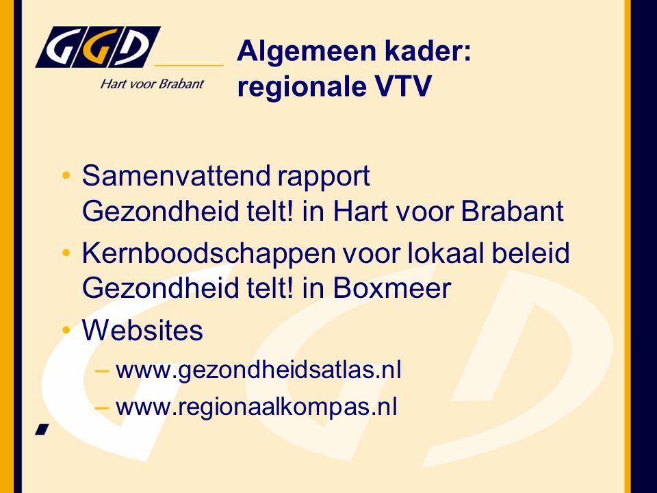 Boodschappen voor strategische keuzes Voor verdere verdieping en nadere analyse: gezondheidsmonitor GGD Hart voor Brabant Betrekken lokale en regionale actoren voor draagvlak beleid www.regionaalkompas.nl Tot slot…