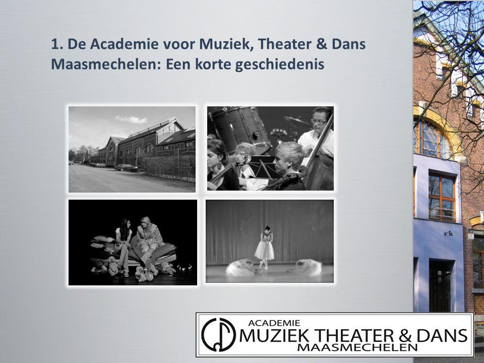 1. De Academie voor Muziek, Theater & Dans Maasmechelen: Een korte geschiedenis