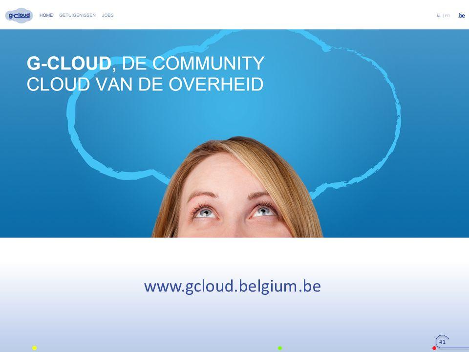 41 www.gcloud.belgium.be