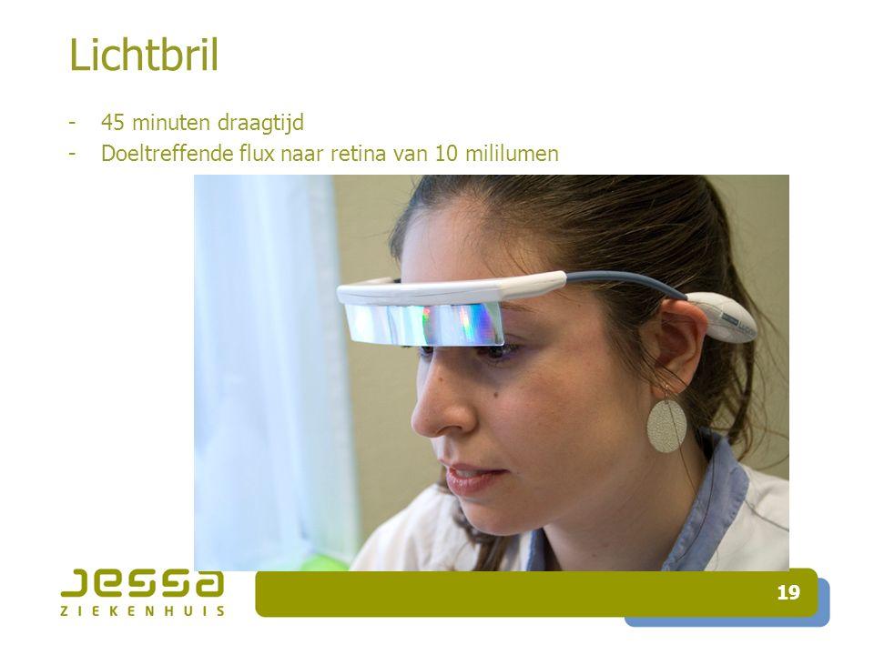 19 Lichtbril -45 minuten draagtijd -Doeltreffende flux naar retina van 10 mililumen