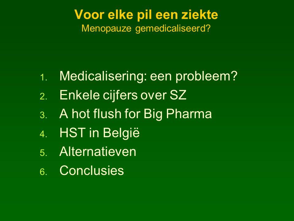 Voor elke pil een ziekte Menopauze gemedicaliseerd.