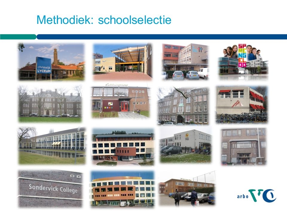 Methodiek: schoolselectie