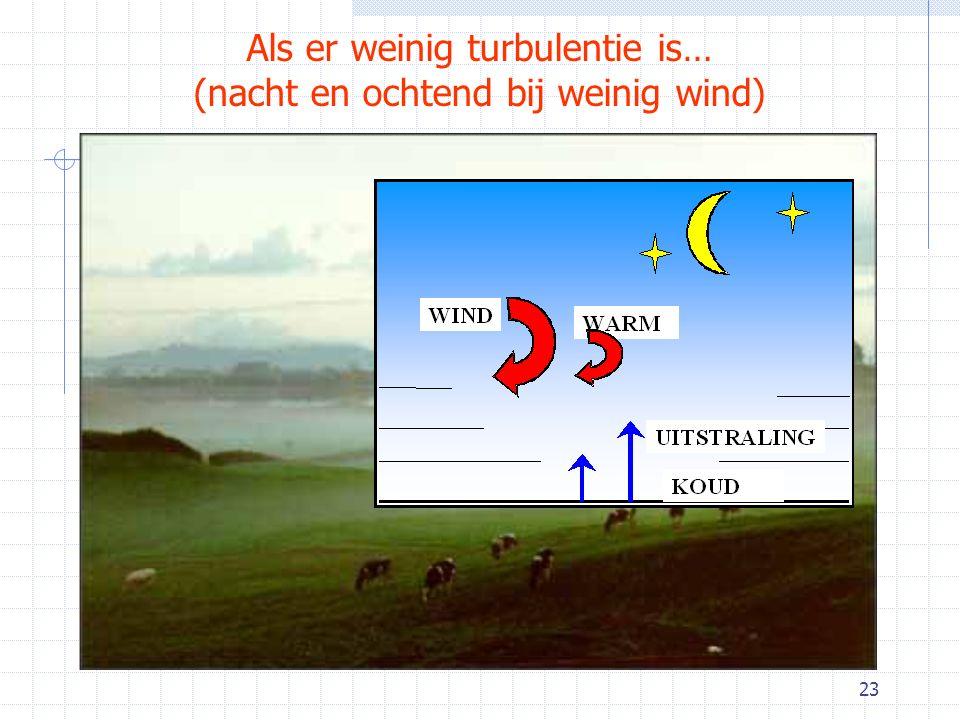 23 Als er weinig turbulentie is… (nacht en ochtend bij weinig wind)